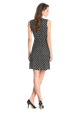 Women's Faux-Wrap Dress