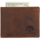 Leather Trifold Wallets for Men