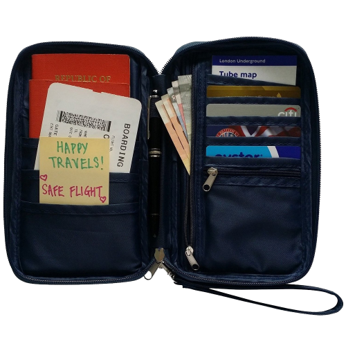 Passport Holder & Travel Document Organizer