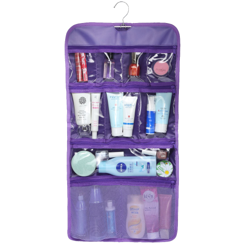 Clear Hanging Travel Toiletry Cosmetic Organizer