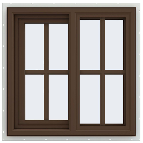 Series Left-Hand Sliding Vinyl Window with Grids