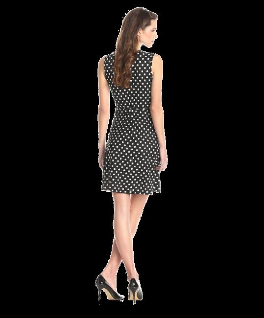 Women's Sleeveless Faux Wrap Dress