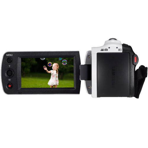 "Black Camcorder with 2.7"" LCD Screen and HD Video Recording"