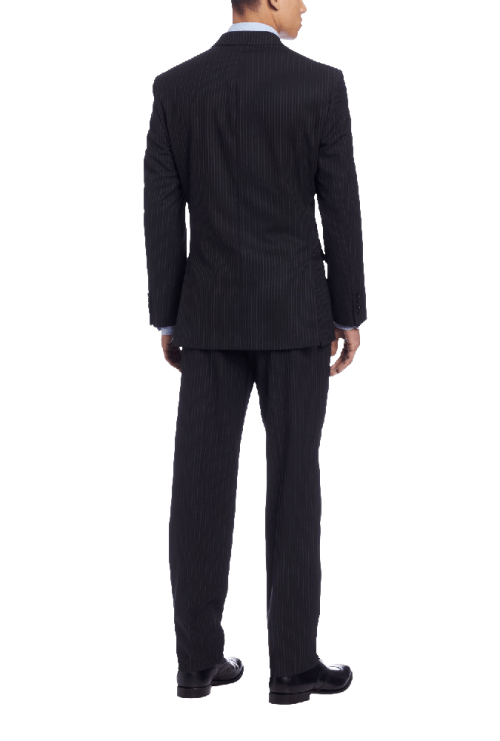 Men's Mini Black Pinstripe Slim-Fit Suit