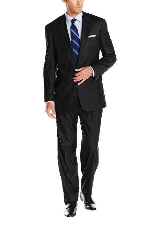 Men's Classic Fit 2 Button Center Vent Pleated Super 150's Suit