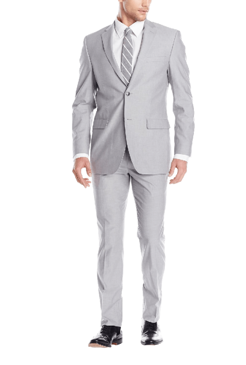 Men's Two Button Suit with Flat Front Pant