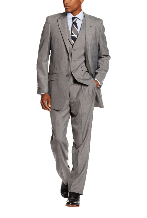 Big Tall Mart Vested 3 Piece Suit