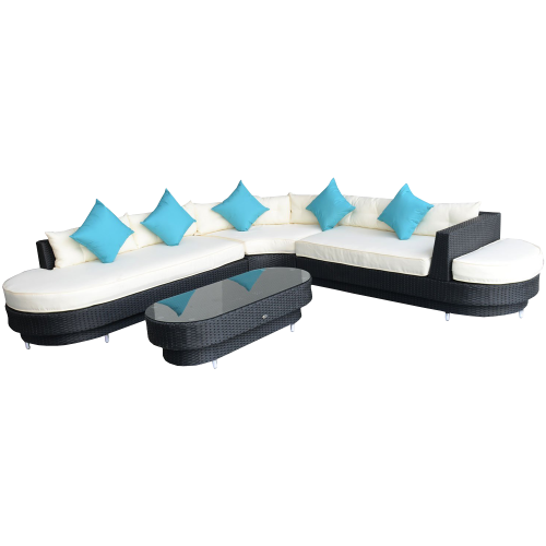 Oval Sofa Sectional Furniture Set