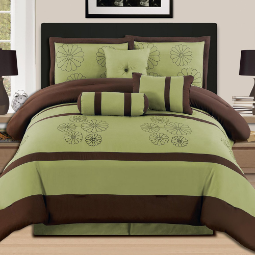 Luxury Embroidery Comforter Set Bed-in-a-bag