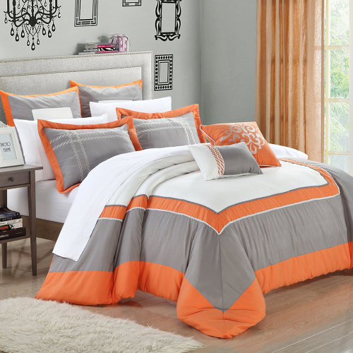7-Piece Ballroom Comforter Set with Shams and Decorative Pillows
