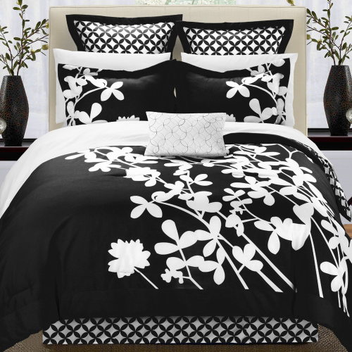 7-Piece Comforter Set with Four Shams and Decorative Pillow