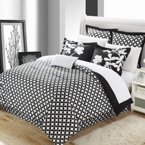 7-Piece Comforter Set with Four Shams and Decorative Pillow