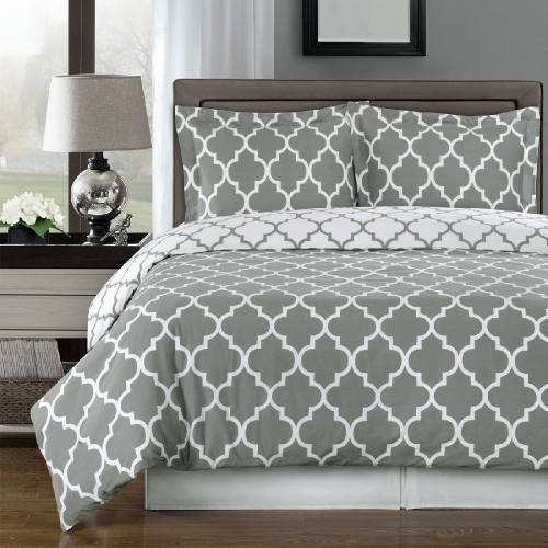 Gray and White Meridian 3-piece