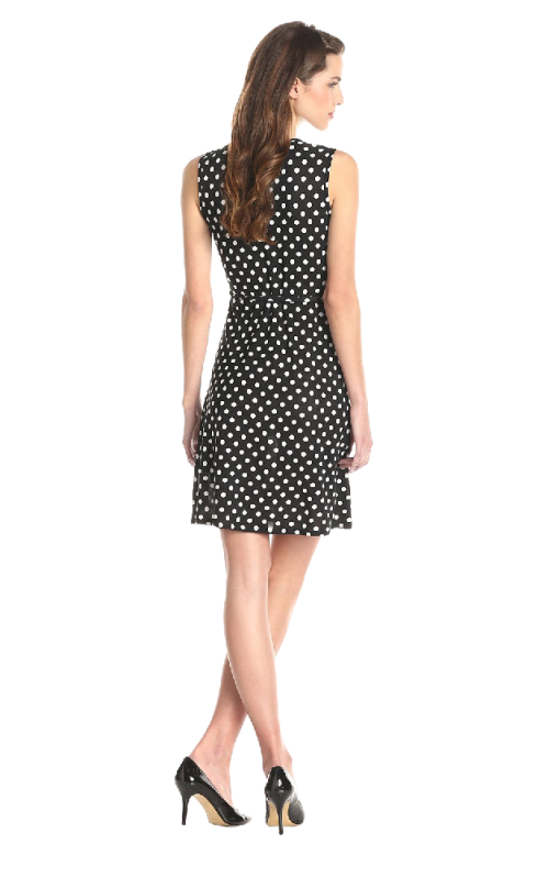 Women's Sleeveless Faux Wrap Dress