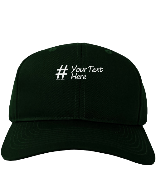 Hashtag Adult Dark Baseball Cap