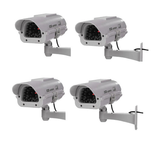 Indoor Solar Powered CCTV Dummy Security Camera Fake Cam with Flash LED