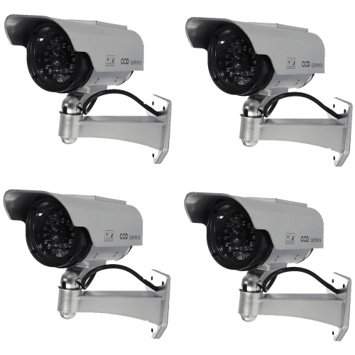 Waterproof LED Indoor Outdoor Solar Powered Fake Simulated Dummy Security Camera