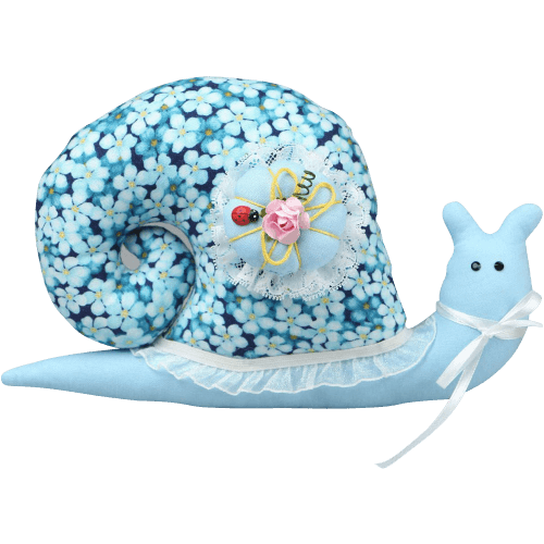 Soft handmade toy Snail