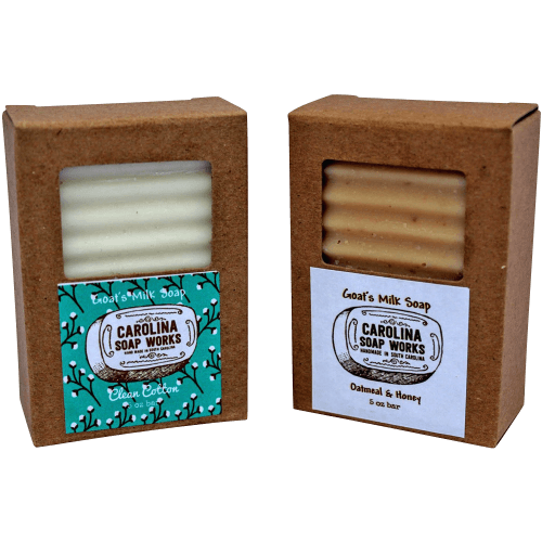 Handmade Goat Milk Soap_Oatmeal & Honey and Clean Cotton Scents