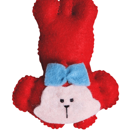 Handmade Stuffed Animals Monkeys Felt Fleece Hanging
