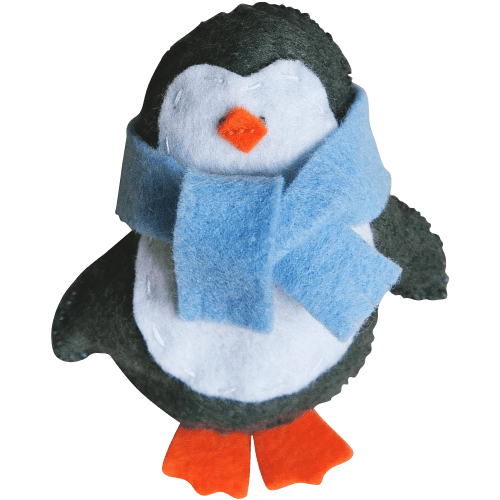 Handmade Stuffed Animals Penguins Felt Fleece Hanging