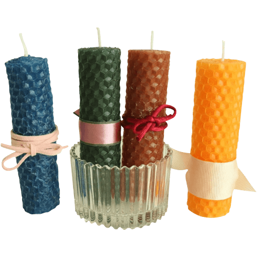 Hand-Rolled 100% natural pure beeswax candle