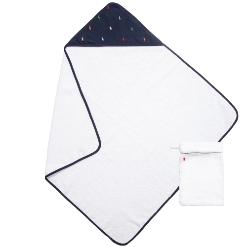 Polo Ralph Lauren White Towel & Mitt Set