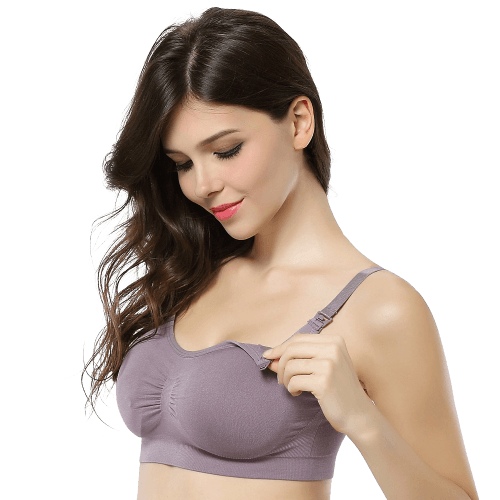 Women's Maternity Nursing Bras Seamless Push up Wireless Underwear
