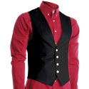 FLATSEVEN Mens Slim Fit Business Casual Premium Vest