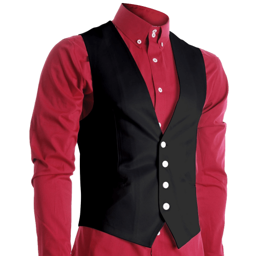 FLATSEVEN Mens Slim Fit Business Casual Premium Vest