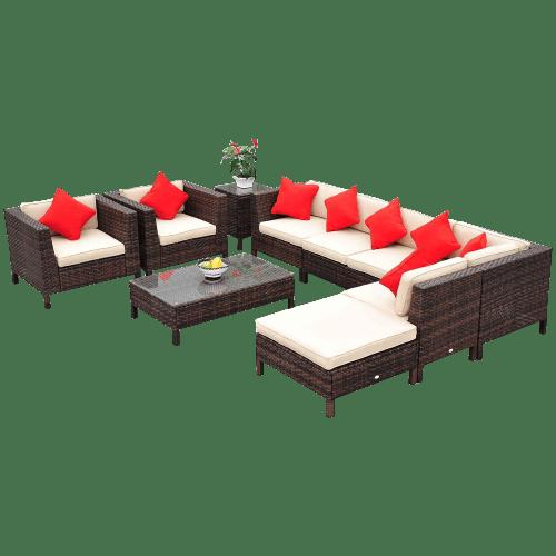 Patio Sofa Chair Set