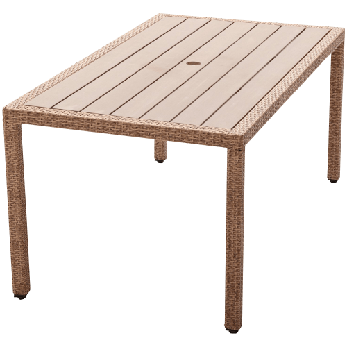 Wicker and Resin Dining Table