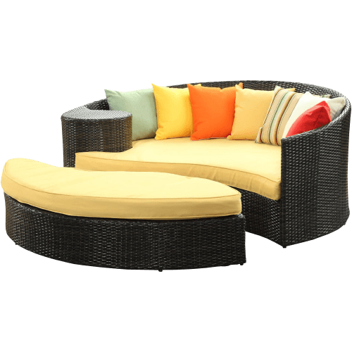 Wicker Patio Daybed