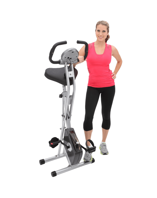 Exerpeutic Folding Magnetic Upright Bike with Pulse