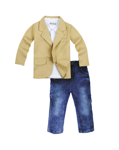 Big Elephant 3 Pieces Baby Boys Shirt Jacket Jeans Set