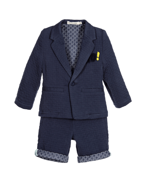Billybandit Baby Boys 2 Piece Blue Blazer & Shorts Set