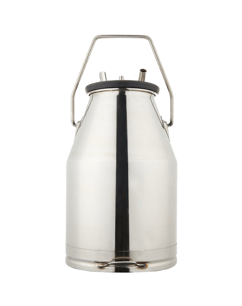 304 Stainless Steel Portable Dairy Cow Milker Milking Machine Bucket Tank Barrel