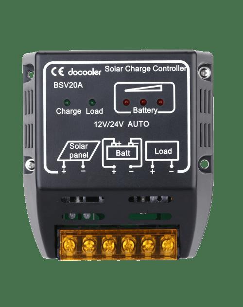 Docooler 20A 12V-24V Solar Charge Controller Solar Panel Battery Regulator Safe Protection