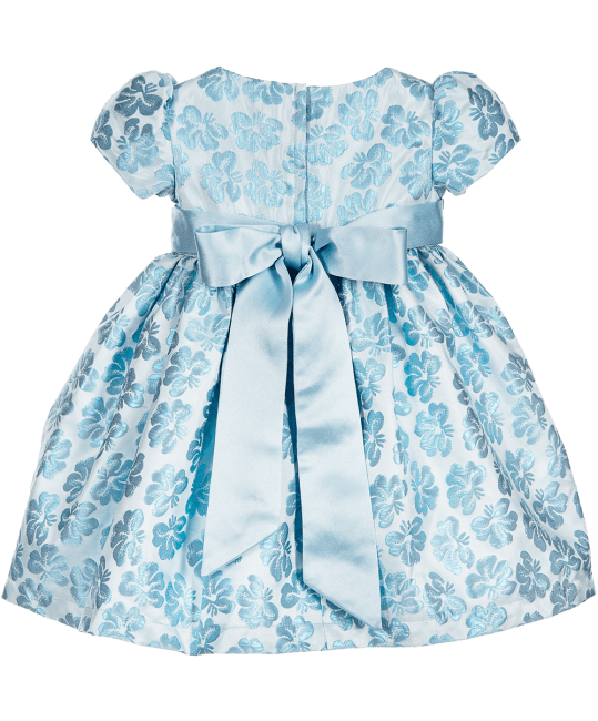 Romano Princess Baby Girls Brocade Dress with Diamanté