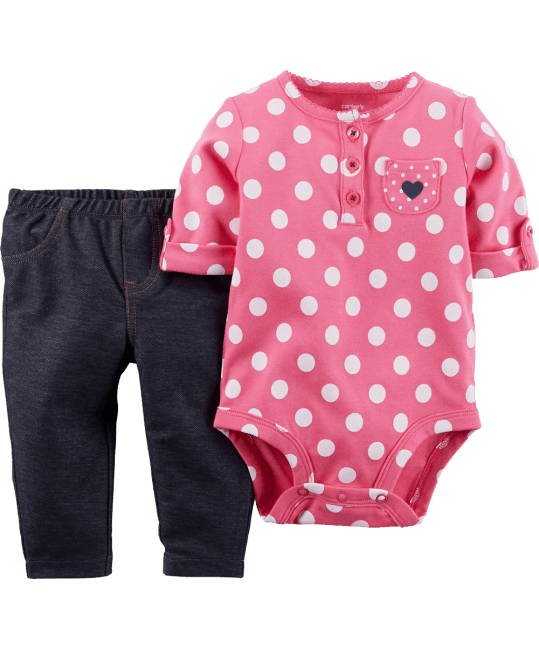 Carter's Baby Girls' 2-Piece Bodysuit and Pant Set