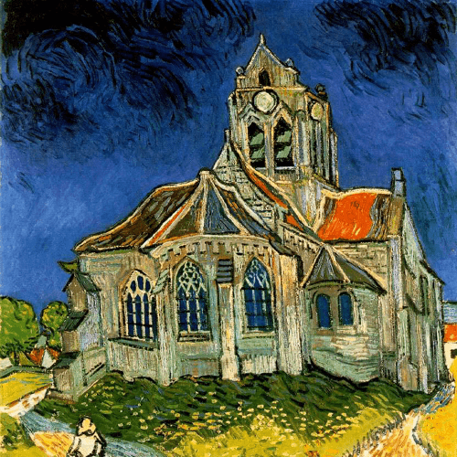 The Church at Auvers Vincent Van Gogh Art Reproduction