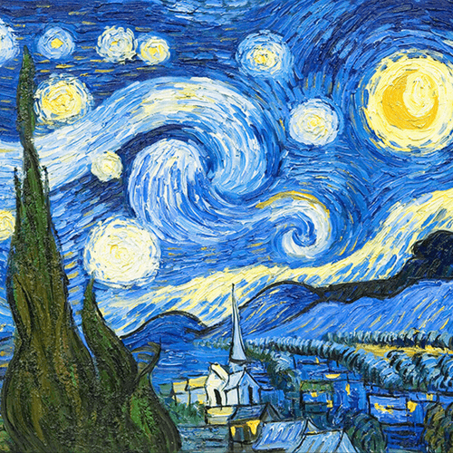 Blue Starry Night by Vincent Van Gogh