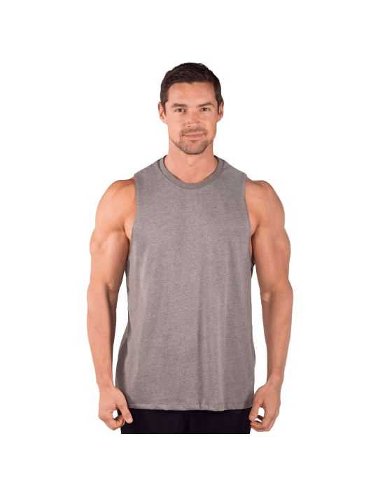 Combed Cotton Cut Sleeve Muscle Tee