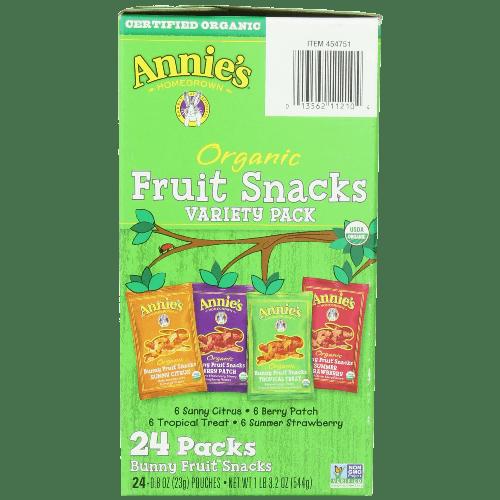 Homegrown Organic Bunny Fruit Snacks Variety Pack