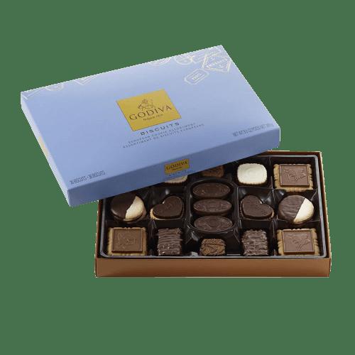 Godiva Chocolatier Chocolate Biscuit Box 36 Count