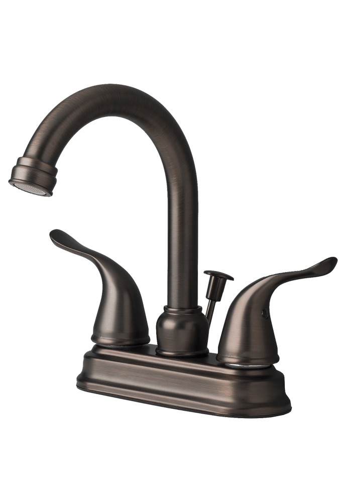 Two Handle Centerset Lavatory Faucet with Pop-Up Drain