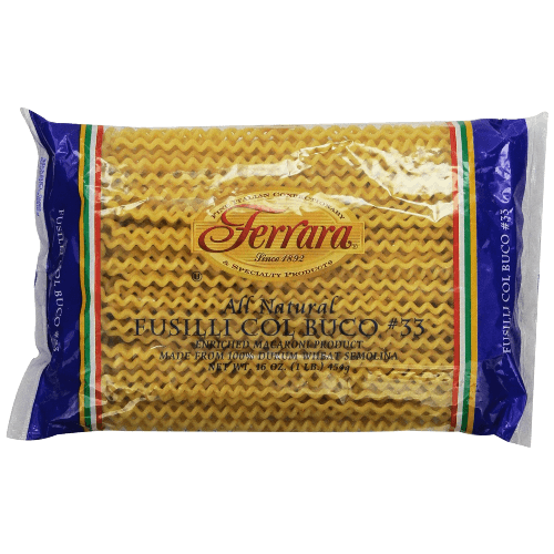 Ferara-Pasta,-Long-Fusilli,-1-Pound-(Pack-of-12)