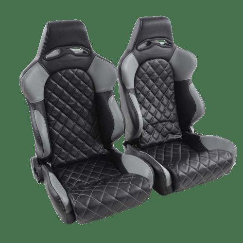 Portseat Set Artificial Leather Black