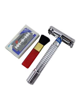 Chrome Plated Butterfly Double Edge Safety Razor