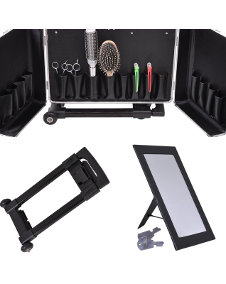 Clipper Trimmer Barber Tool Box Rolling